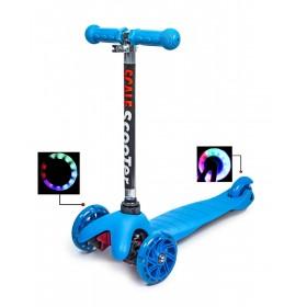 Трехколесный самокат Scooter micro mini best голубой