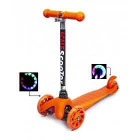 Трехколесный самокат Scooter micro mini best оранжевый