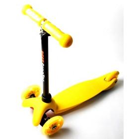 Трехколесный самокат Scooter micro mini best желтый