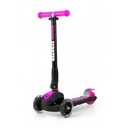 Трехколесный самокат Milly Mally Scooter Magic черно-розовый