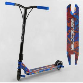Самокат трюковый Best Scooter, HIC-система, ПЕГИ, алюминиевый диск и дека, колёса PU, 78107, синий