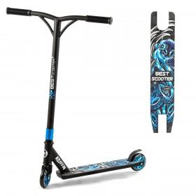 Самокат трюковый Best Scooter Kraken S20905, алюминиевая дека, колёса 10 см, синий