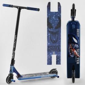 Трюковый самокат Best Scooter SIMBIOTE, HIC-система, ПЕГИ, алюминиевый диск и дека, колёса 120мм PU, 44374, синий