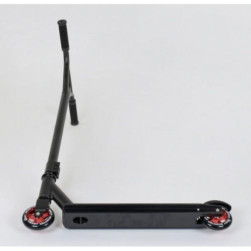 Трюковой самокат Best Scooter 49276, алюминиевый диск и дека черно-красный