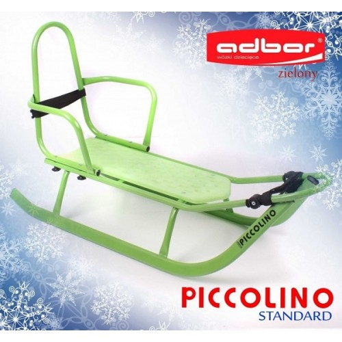 Санки Adbor Piccolino без ручки зеленый