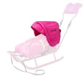 Капюшон к санкам Adbor Piccolino розовый