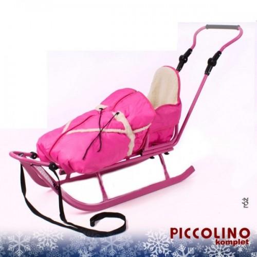 Комплект Санки c конвертом Adbor Piccolino розовый