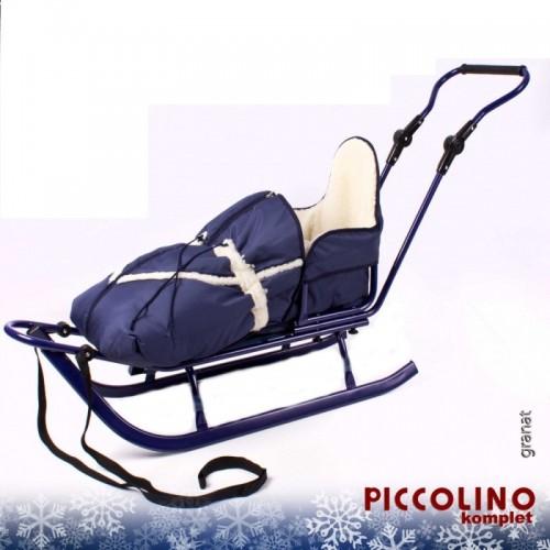 Комплект Санки c конвертом Adbor Piccolino синий
