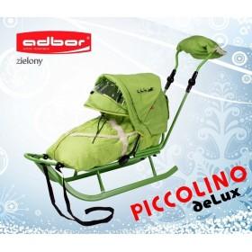 Полный комплект Санки Adbor Piccolino DeLux  зеленый