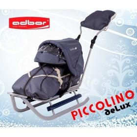 Полный комплект Санки Adbor Piccolino DeLux серый