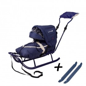 Полный комплект Санки Adbor Piccolino DeLux  синий