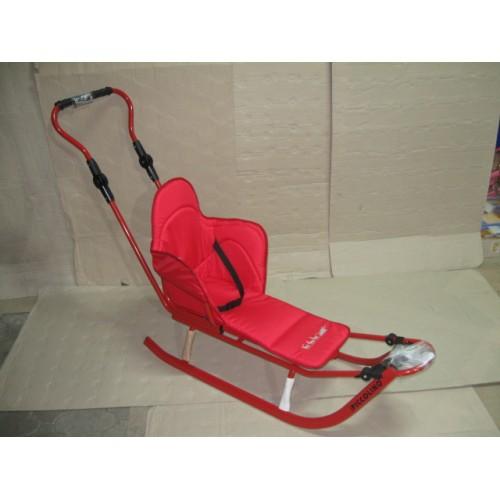 Комплект Санки c Adbor Piccolino +матрас+ подножки красный