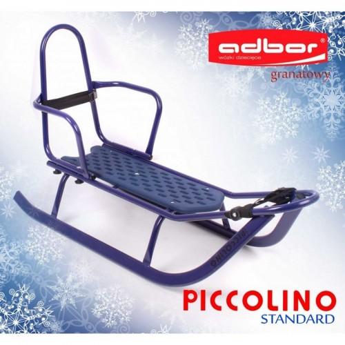 Комплект Санки Adbor Piccolino +матрас+ подножки синий