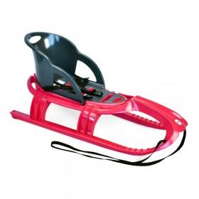 Санки КHW  Snow Tiger comfort со спинкой красные