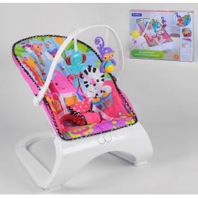 Шезлонг-качалка Fitch Baby, 2 игрушки, музыка, вибрация 88928