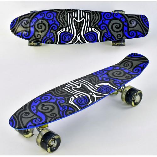 Пенниборд Best Board (Penny Board) F 6510 со светящимися колесами