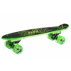 Скейт Neon Hype светящаяся платформа и колеса зеленый