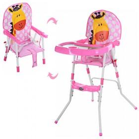 Стульчик для кормления Bambi GL 217С розовый
