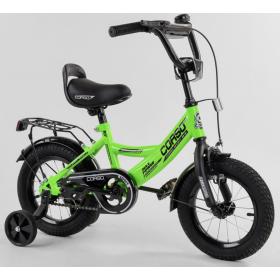 """Велосипед двухколесный CORSO MaxPower 12 CL-12749 12"""", зеленый"""