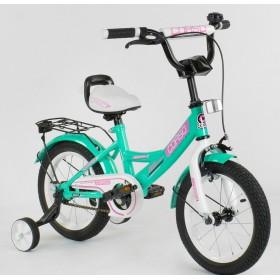 """Велосипед двухколесный CORSO MaxPower CL-D-0211 14"""", бирюзовый"""