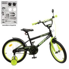 """Велосипед двоколісний Profi Dino, SKD75 18 """" чорно-зелений"""