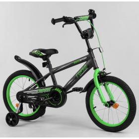 """Велосипед двухколесный CORSO MaxSpeed EX 16 N-2948 16"""" черно-зеленый"""