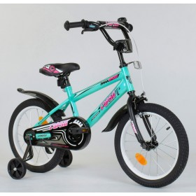 """Велосипед двухколесный CORSO MaxSpeed EX 16 N-5171 16"""" бирюзовый"""