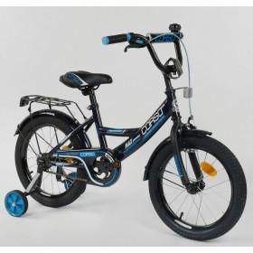 """Велосипед двухколесный CORSO MaxPower CL-P-6633 16"""", черно-синий"""