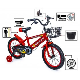 """Велосипед двухколесный Scale Sports T13, 16"""" красный"""