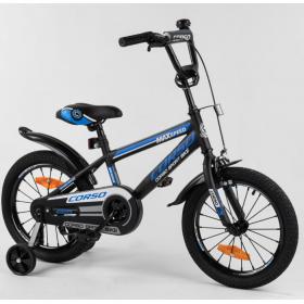 """Велосипед двоколісний CORSO Sporting 16 """" ST-16120, чорно-синій"""