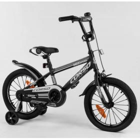 """Велосипед двоколісний CORSO Sporting 16 """" ST-16744, чорний"""