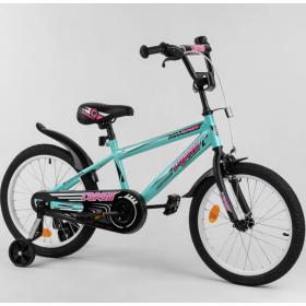 """Велосипед двухколесный CORSO MaxSpeed EX 18 N-1102 18"""" бирюзовый"""