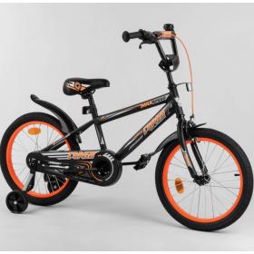 """Велосипед двухколесный CORSO MaxSpeed EX 18 N-5581 18"""" черно-оранжевый"""