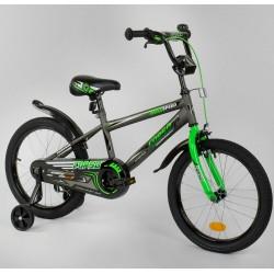 """Велосипед двоколісний CORSO MaxSpeed EX 18 N-3305 18"""" чорно-зелений"""