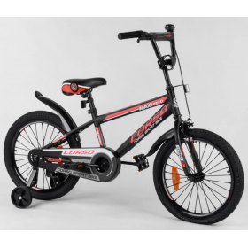 """Велосипед двухколесный CORSO Sporting 18"""" ST-18702, черно-красный"""
