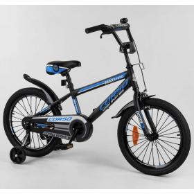 """Велосипед двухколесный CORSO Sporting 18"""" ST-18111, черно-синий"""
