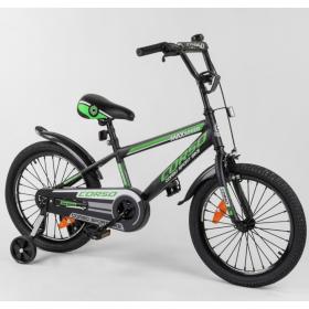 """Велосипед двухколесный CORSO Sporting 18"""" ST-18633, черно-зеленый"""