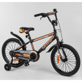 """Велосипед двухколесный CORSO Sporting 18"""" ST-18207, черно-оранжевый"""