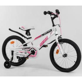 """Велосипед двухколесный CORSO Sporting 18"""" R-18362, белый"""