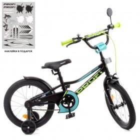 """Велосипед двоколісний Profi Prime 16"""" SKD75 чорно-зелений"""