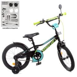 """Велосипед двоколісний Profi Prime 18"""" SKD75 чорно-зелений"""
