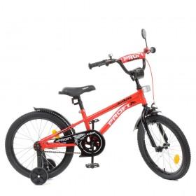 """Велосипед двоколісний Profi Shark SKD45 колеса 18"""", з наклейками, червоний"""