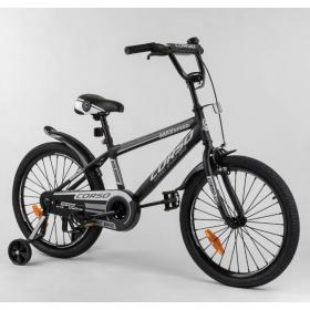 """Велосипед двухколесный CORSO Sporting 20"""" ST-20363, черный"""