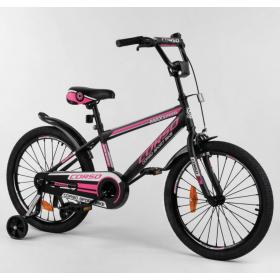 """Велосипед двухколесный CORSO Sporting 20"""" ST-20566, черно-розовый"""