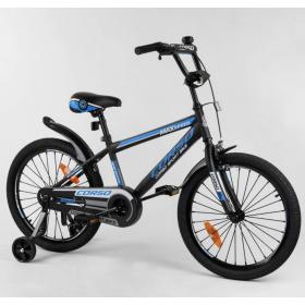 """Велосипед двухколесный CORSO Sporting 20"""" ST-20254, черно-синий"""