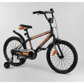 """Велосипед двухколесный CORSO Sporting 20"""" ST-20455, черно-оранжевый"""