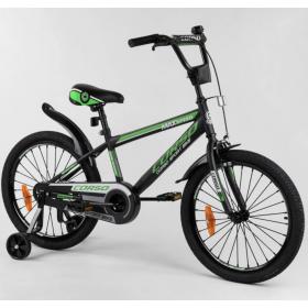 """Велосипед двухколесный CORSO Sporting 20"""" ST-20113, черно-зеленый"""