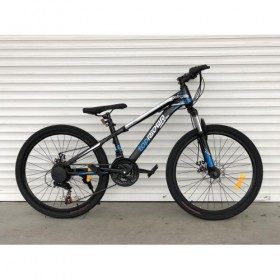 "Спортивный велосипед Toprider 611 24"" черно-синий"