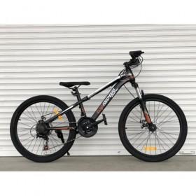 """Спортивный велосипед Toprider 611 24"""" черно-коричневый"""
