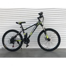 """Спортивный велосипед Toprider 611 24"""" черно-зеленый"""